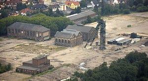 der traurige Rest der 2001 stillgelegten Schachtanlage des BW Lippe, Standort Fürst Leopold, Dorsten
