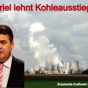Braunkohlekraftwerk Niederaußem mit Gabriel