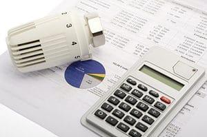Energiekosten, Abrechnung mit Thermostat und Taschenrechner