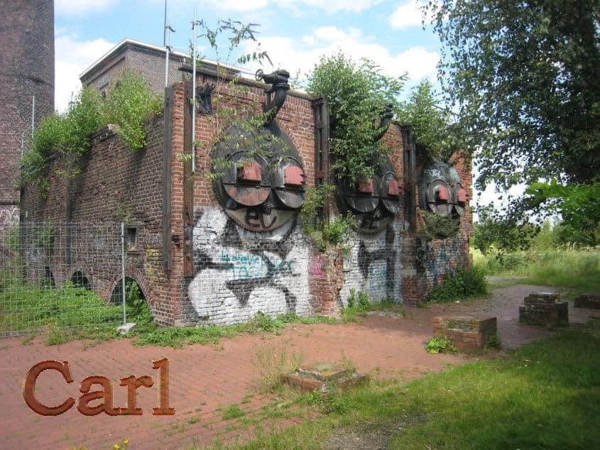 Doppekfkammrohrkessel zur Dampferzeugung Zeche Carl, Kesselhaus abgerissen foto pillboxs