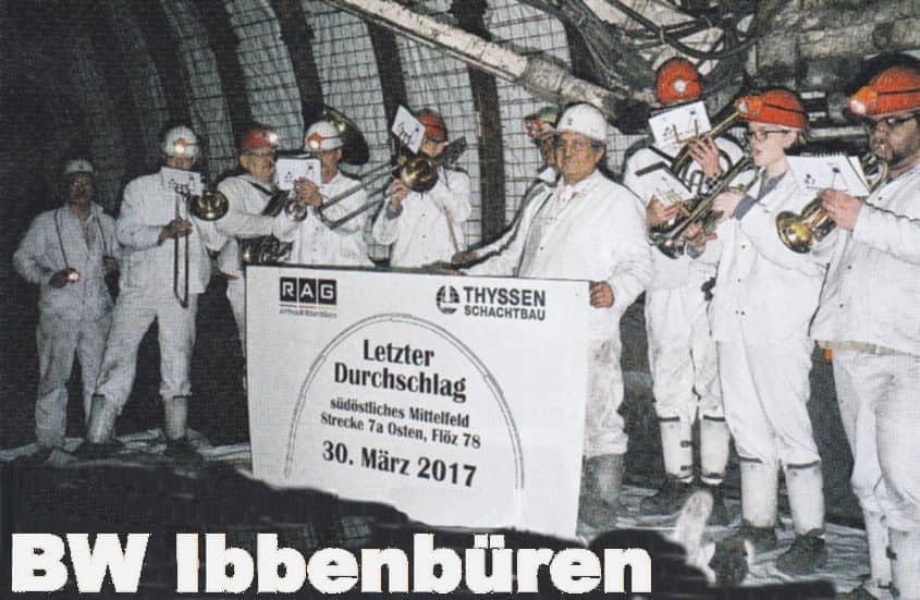 Ibbenbühren -letzer Durchschlag- foto.RAG- BW Ibbenbüren