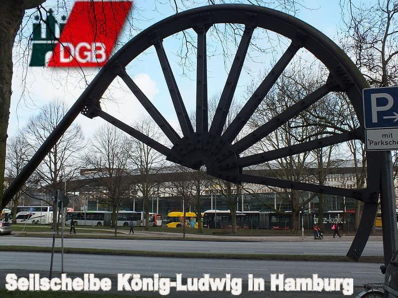 Seilscheibe_vor_dem_Gewerkschaftshaus_Hamburg foto wolf1949