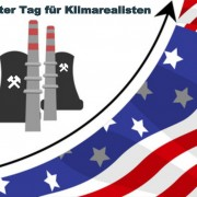 Nuclear power station  silhouette with american flag, vector illustration