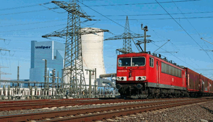 uniper Kraftwerk datteln 4 mit Bahn
