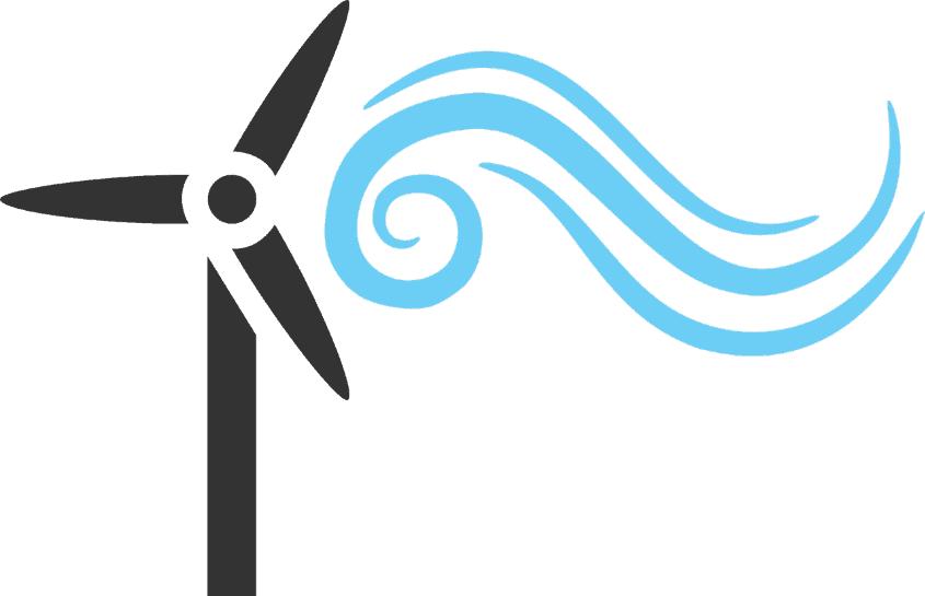 Windrad und Luft
