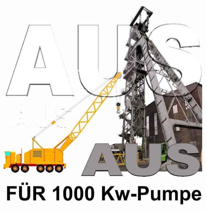 Aus für 1000 KW Pumpe