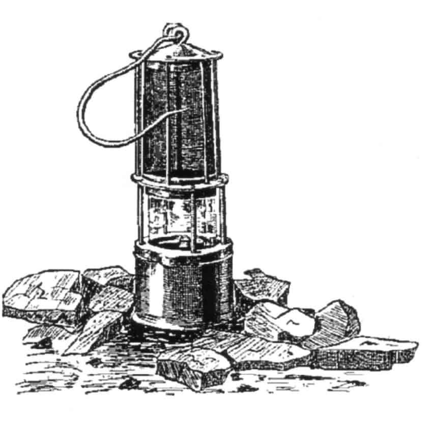 Grubenlampe Zeichnung