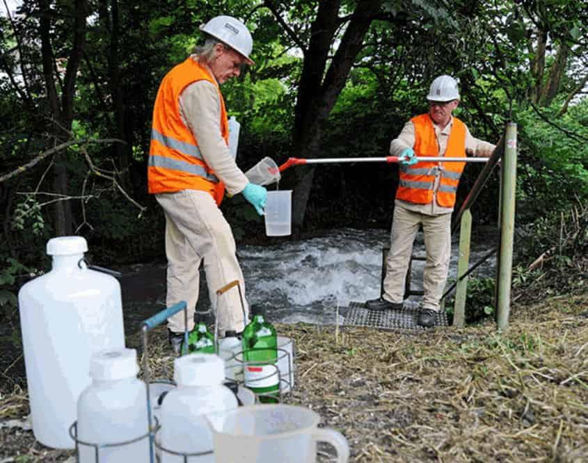 Grubenwasserprobenehmung im Saarland,Foto-RAG