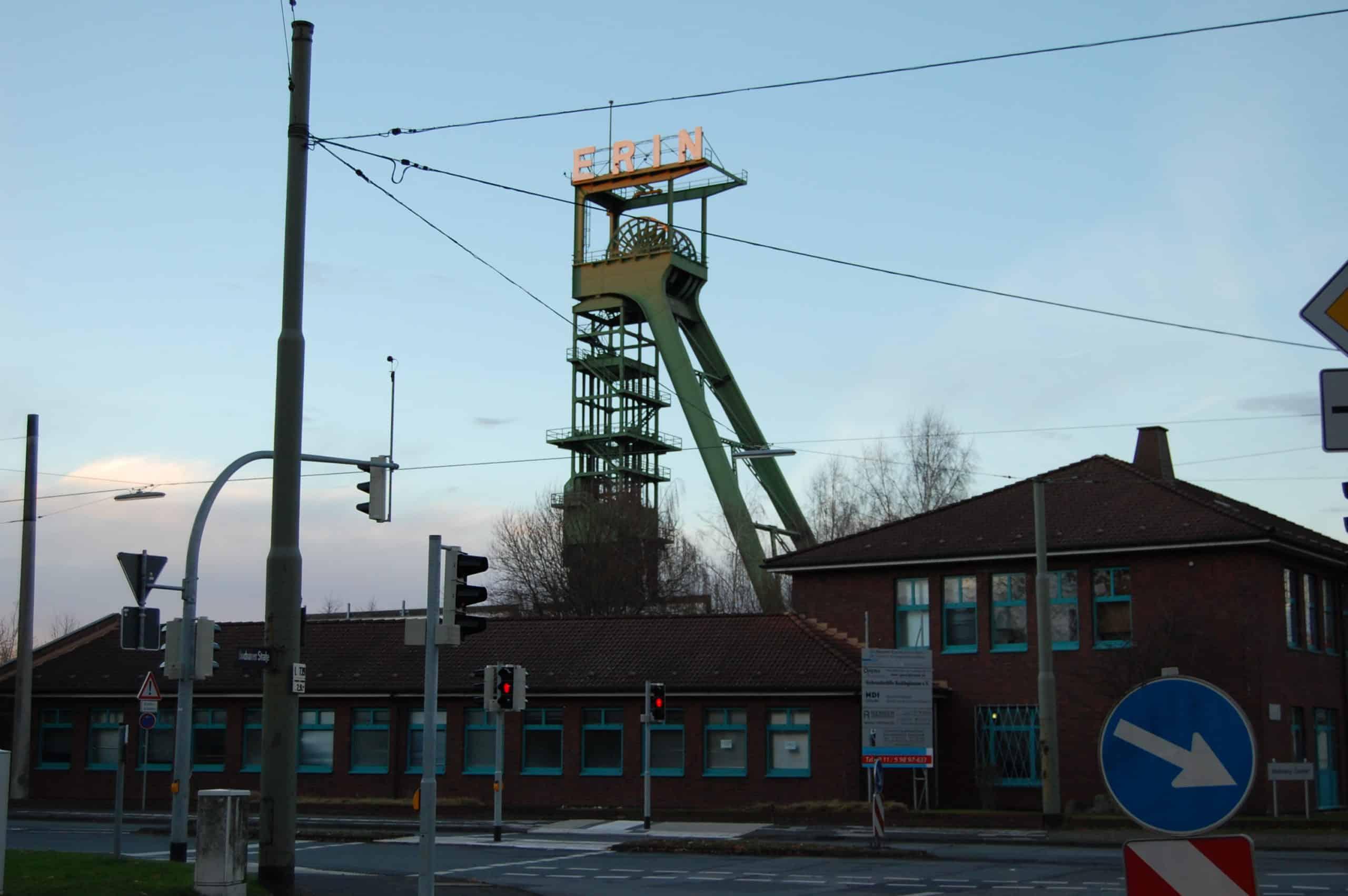 Förderturm Zeche Erin in Castrop-Rauxel, Foto: Revierkohle