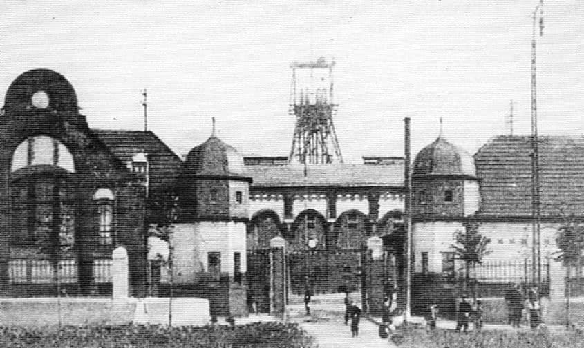 Zeche Bergmannsglück um 1908 in Gelsenkirchen-Buer-Hassel, Foto: Rabas,Karlheinz (s.u.)