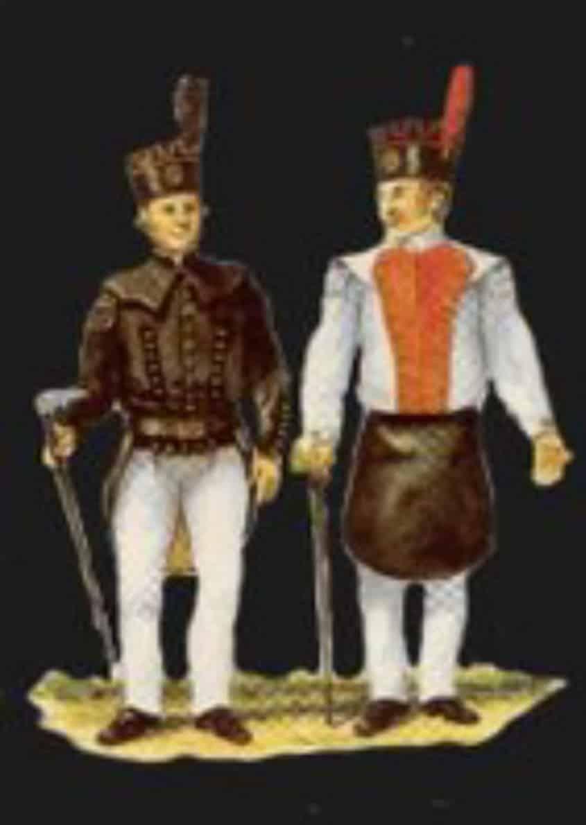Mansfelder Bergleute des Erzgebirges - Porzellanfiguren
