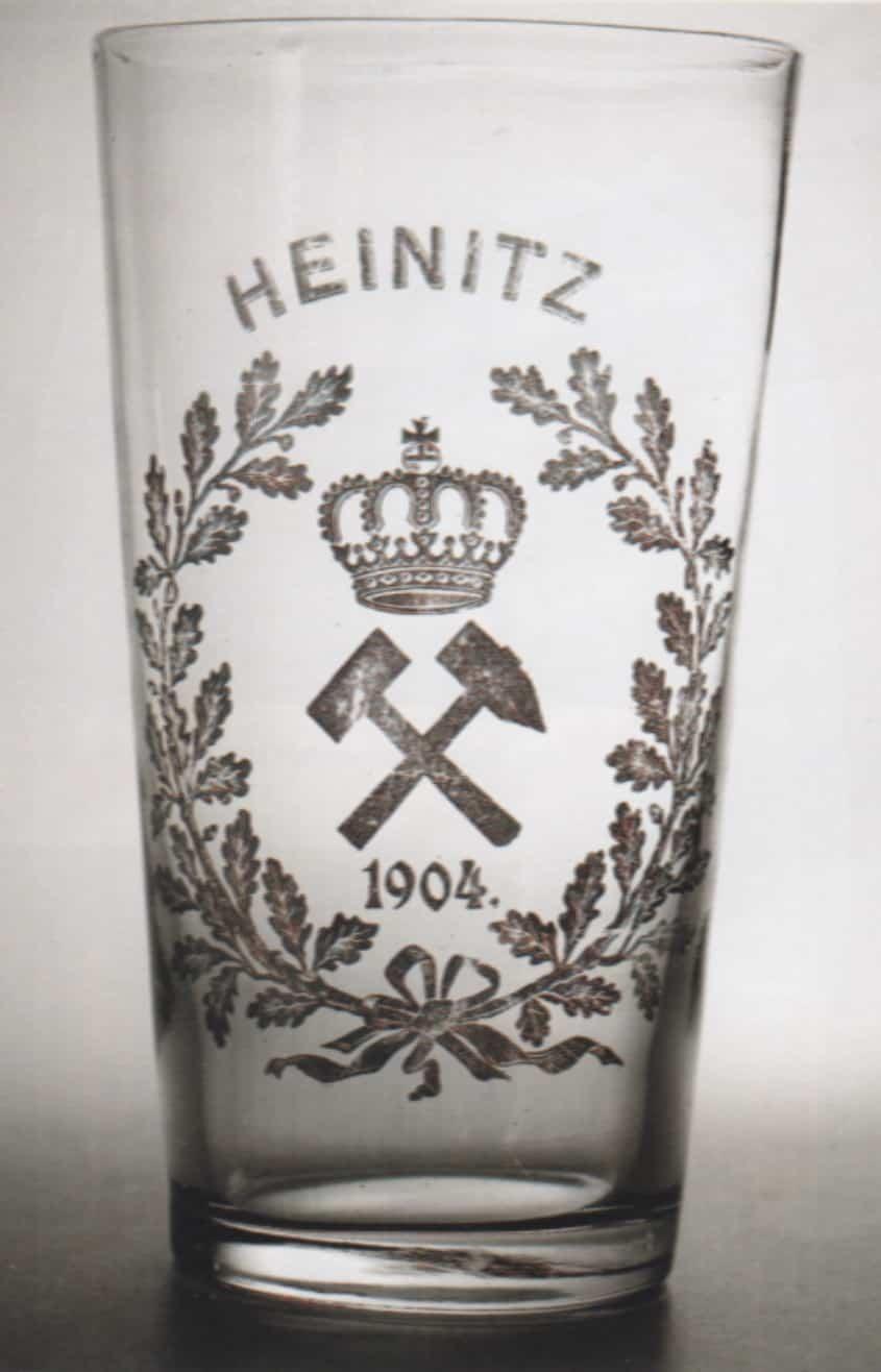 Trinkgals saarländisches Bergfestglas von 1904 im DBM