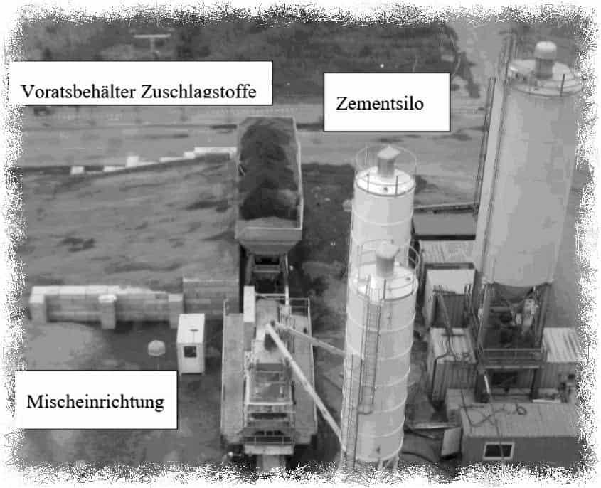 Silo und Zementmischanlage zur Schachtverfüllung