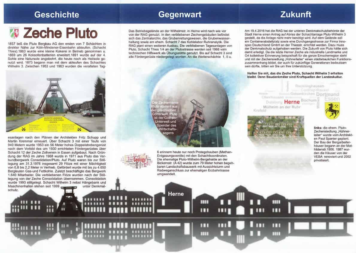 Flyer Pluto Rückseite