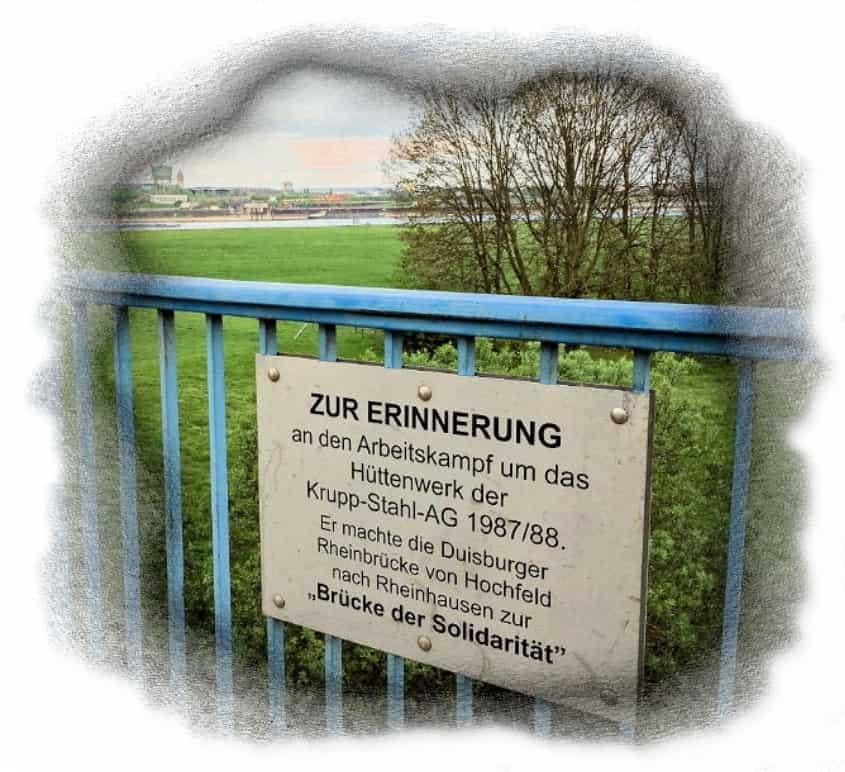 Erinnerungstafel Rheinhausen