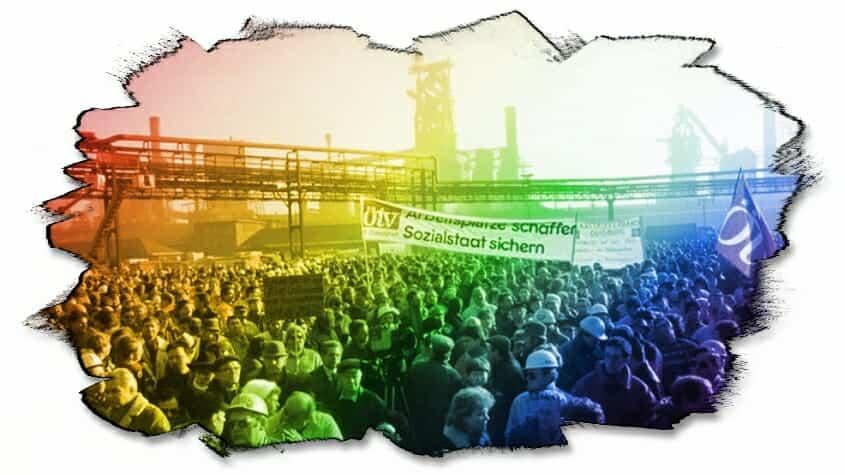 größter Streik in der Geschichte der Bundesrepublik 1989