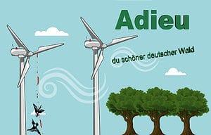 Zerstörung des Öko-Systems durch Windkraftanlagen