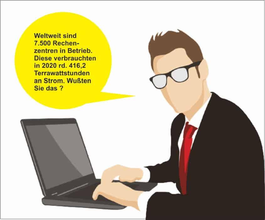 7500 Rechenzentren weltweit - Illustration